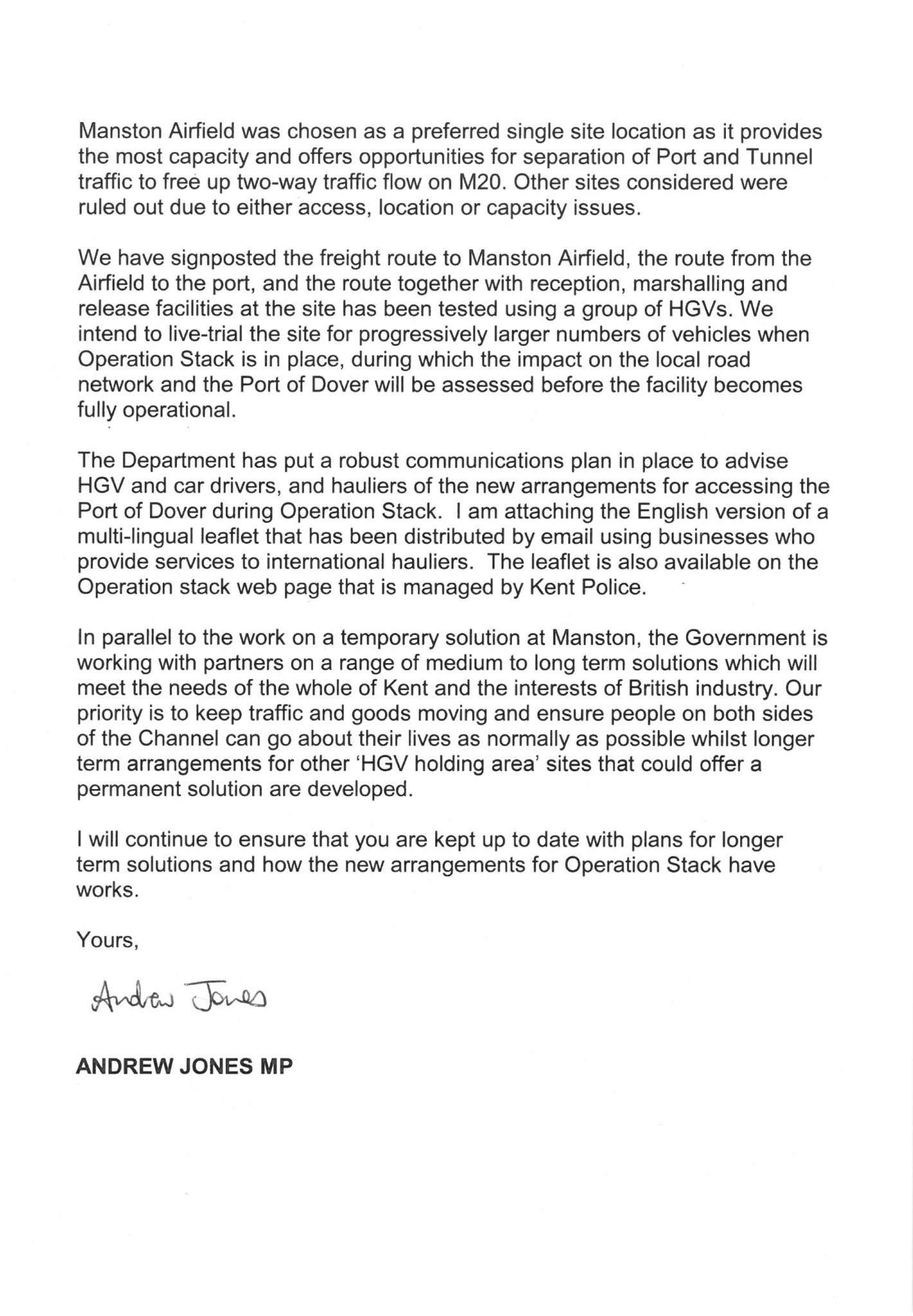 operation stack and manston airfield letter to canterbury image image